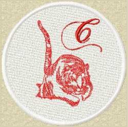 FSL Red Tiger C embroidery design