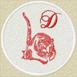 FSL Red Tiger D embroidery design