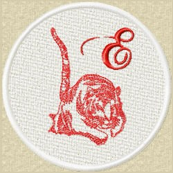 FSL Red Tiger E embroidery design
