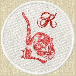 FSL Red Tiger K embroidery design