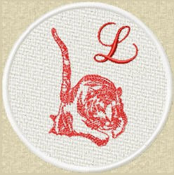 FSL Red Tiger L embroidery design