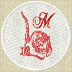 FSL Red Tiger M embroidery design