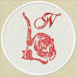 FSL Red Tiger N embroidery design