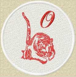 FSL Red Tiger O embroidery design