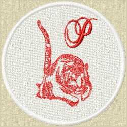 FSL Red Tiger P embroidery design