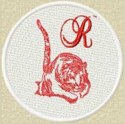 FSL Red Tiger R embroidery design