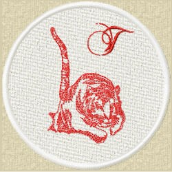 FSL Red Tiger T embroidery design