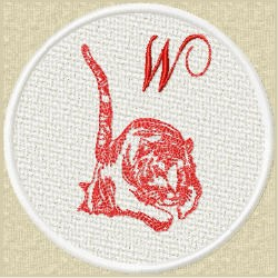 FSL Red Tiger W embroidery design