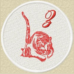 FSL Red Tiger Z embroidery design