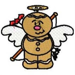 Gingerbread Love Angel embroidery design