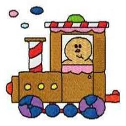 Gingerbread Engine embroidery design