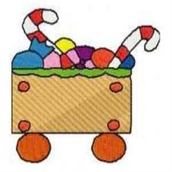 Gingerbread Train Car embroidery design