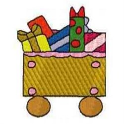 Gingerbread Boxcar embroidery design