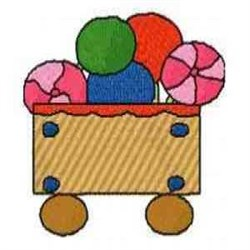 Gingerbread Train Car embroidery design