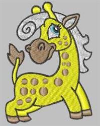 Silver Mane Giraffe embroidery design