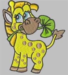 Clover Giraffe embroidery design