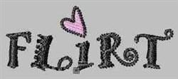Flirt embroidery design