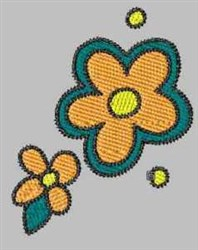 Modern Flowers embroidery design
