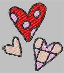 Decor Hearts embroidery design