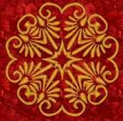 Golden Medallion embroidery design