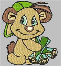 Firewood Bear embroidery design