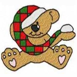 Santa Hat Bear embroidery design