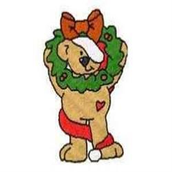 Wreath Bear embroidery design