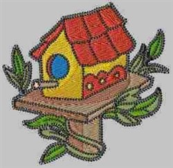 Beautiful Birdhouse embroidery design