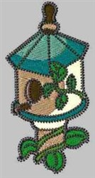 Vine Birdhouse embroidery design