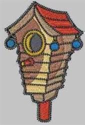 Beautiful Birdhouse embroidery design