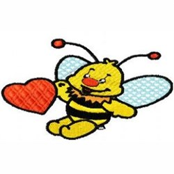 Love Bee embroidery design