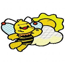 Sunshine Bee embroidery design