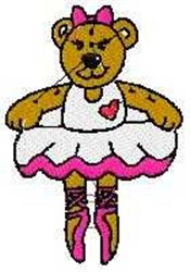 Ballerina Bear embroidery design