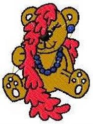 Dress-up Bear embroidery design