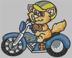 Biker Cat embroidery design