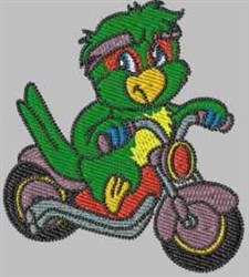 Amazon Parrot Biker embroidery design