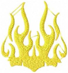 Gold Flames embroidery design