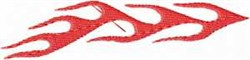 Long Red Flames embroidery design
