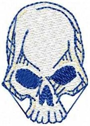 Blue Skull embroidery design