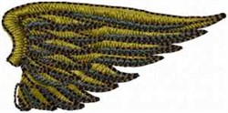 Golden Right Wing embroidery design