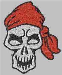 Bandana Skull embroidery design