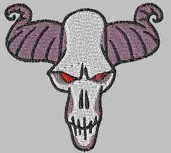 Horned Skull embroidery design
