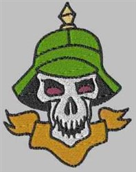 German Soldier Skull embroidery design