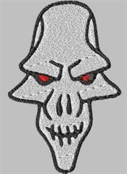 Long Skull embroidery design