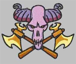 Axe Skull embroidery design
