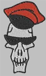 Captains Hat Skull embroidery design