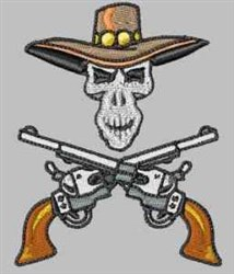 Skull & Pistols embroidery design