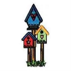 Garden Birdhouses embroidery design