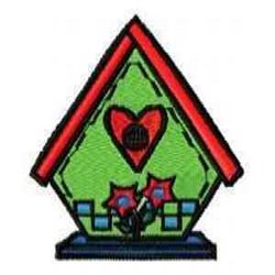 Heart Birdhouse embroidery design