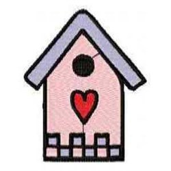 Love Birdhouse embroidery design